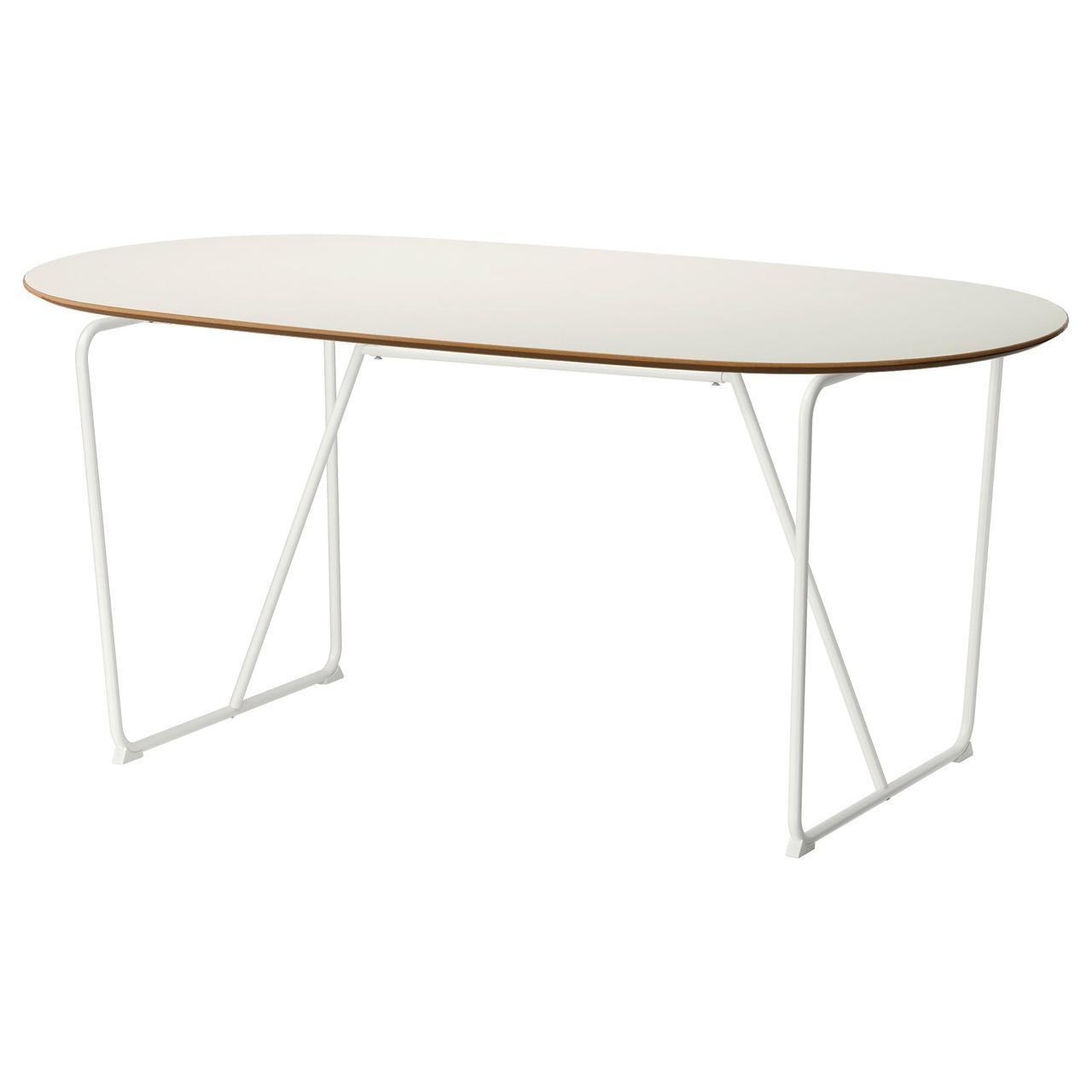 IKEA SLAHULT (791.406.96) Стол, белая береза, белая берёза Дальшют