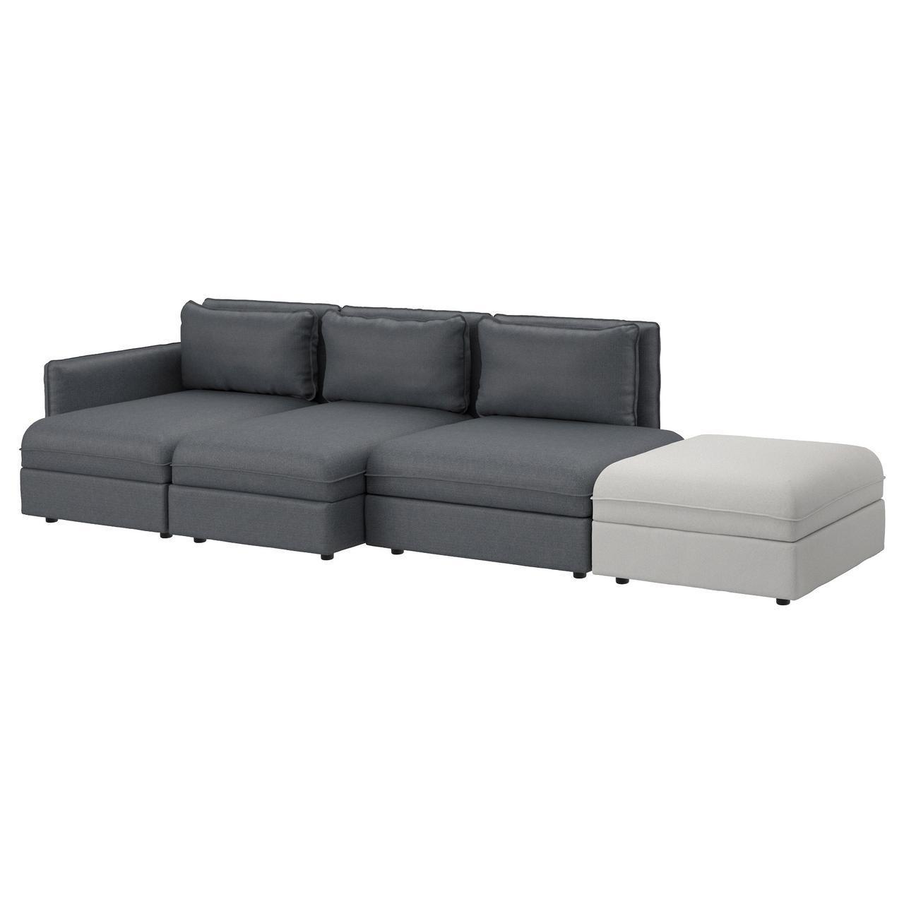 IKEA VALLENTUNA (191.613.85) Диван, 4 части, Murum черный