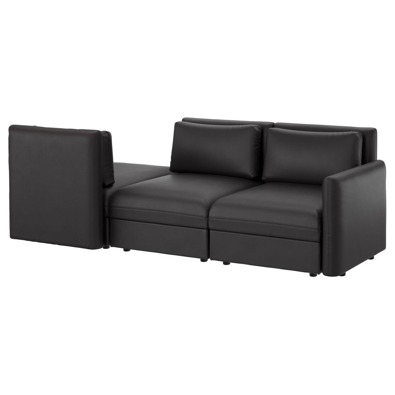 IKEA VALLENTUNA (191.626.05) 3-местный диван, Murum black