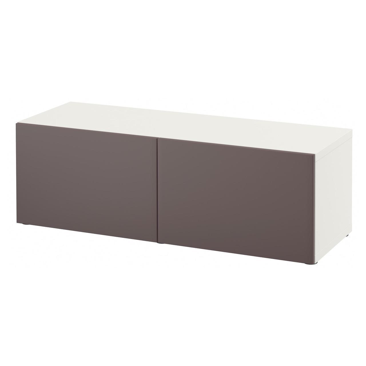 IKEA BESTA (291.328.11) Шкаф, Glassvik белый