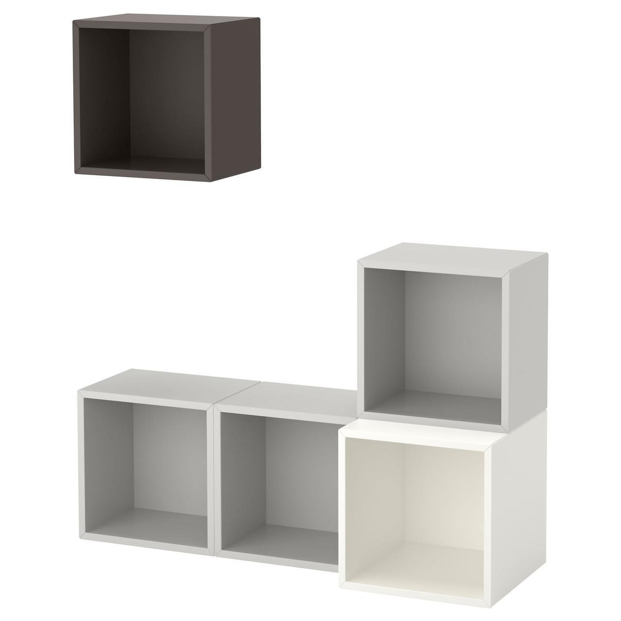IKEA EKET (291.891.19) Комбинация настенных шкафов, разноцветных