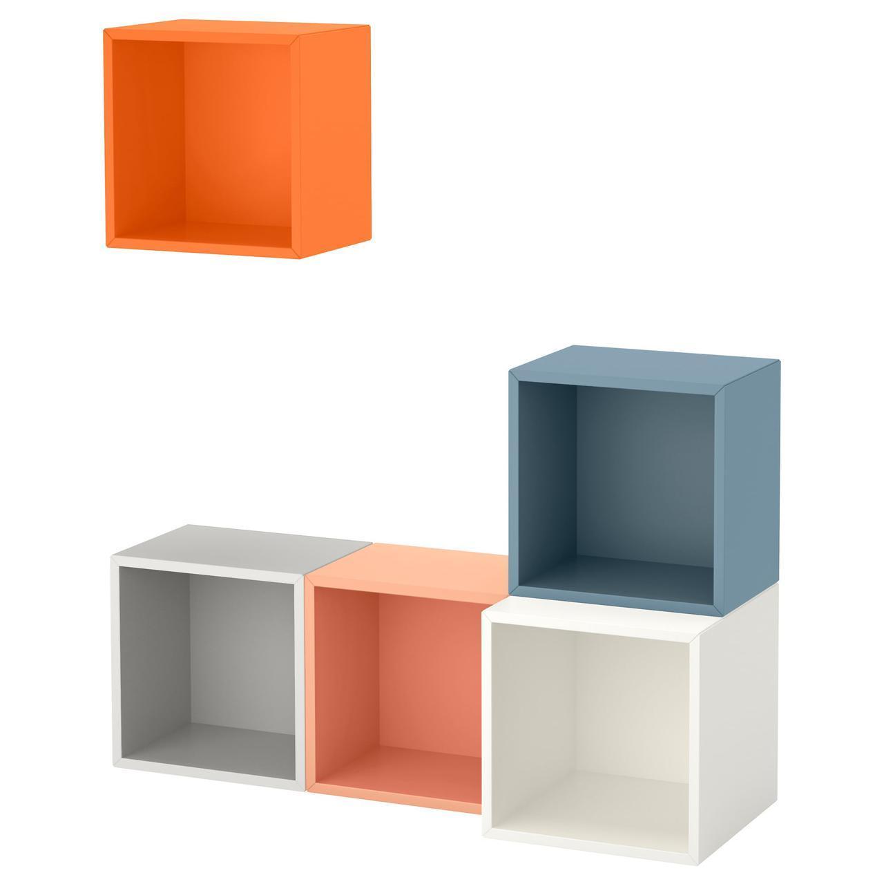 IKEA EKET (591.891.08) Комбинация настенных шкафов, разноцветных