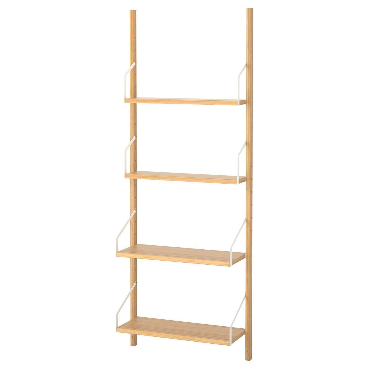 IKEA SVALNAS (791.844.35) Шкаф, установленный на стене, бамбук