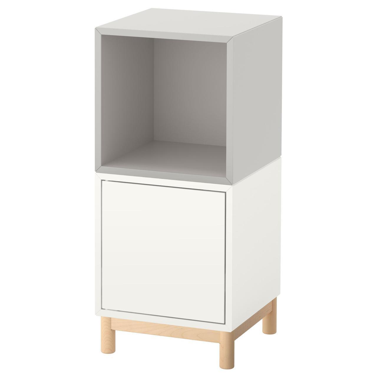 IKEA EKET (091.907.17) Комбинация шкафов с ножками белого и оранжевого цвета