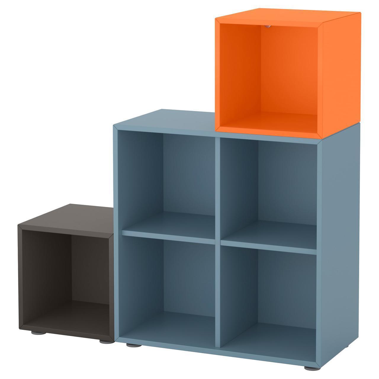IKEA EKET (391.908.53) Комбинация шкафов с ножками белым, светло-серым