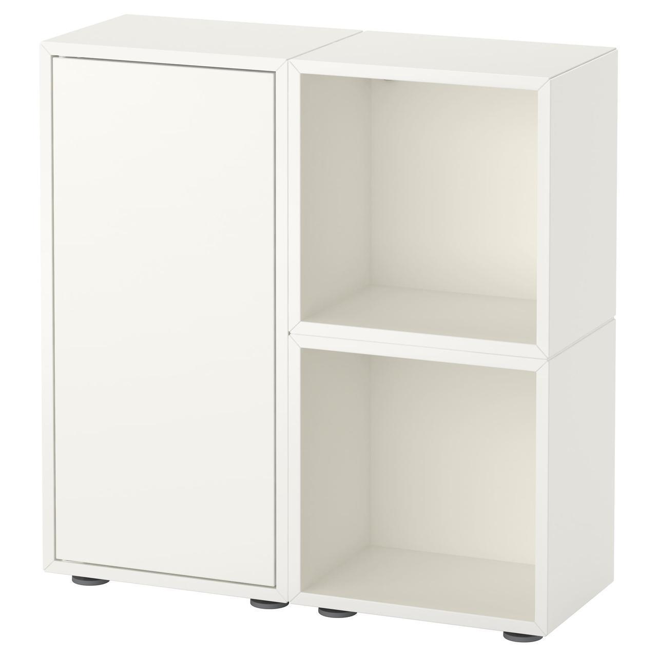 IKEA EKET (091.891.96) Комбинация шкафов с ножками белый/серый