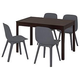 IKEA EKEDALEN / ODGER (692.212.97) Стіл і 4 стільця, синій, синій