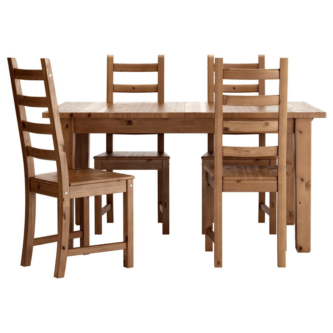 IKEA STORNAS / KAUSTBY (498.856.40) Стол и 4 стула, пятно патины