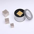 ЗОЛОТОЙ ТЕТРАКУБ [5мм * 216 кубиков] + Металлическая Коробка в Подарок (Неокуб NeoCube из кубов), фото 2