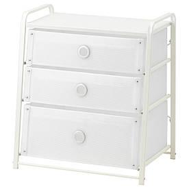 IKEA LOTE (502.937.22) Комод, 3 ящики, білий