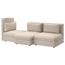 IKEA VALLENTUNA (591.442.14) 3-местный диван, Murum meringue