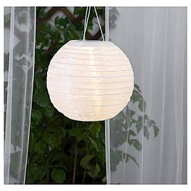 IKEA SOLVINDEN (003.828.29) Подвесная лампа, солнечная энергия, белая сфера
