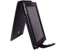 Черный чехол для Acer Iconia Tab A100 из натуральной кожи, фото 1