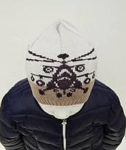 Прикольная Вязанная Демисезонная Шапка Для Мальчика С Рисунком Вертолета, Nikola, Польша 48-52 см