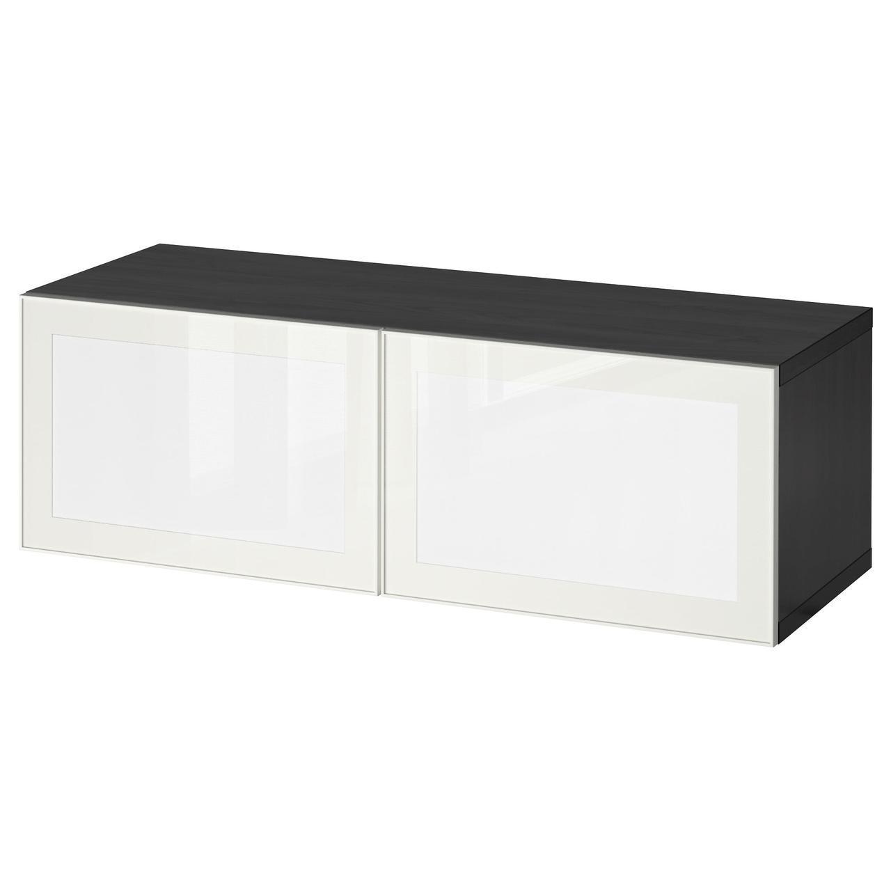 IKEA BESTA / SURTE (391.931.49) Шкаф со светодиодной дверью, белый, белый
