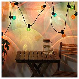 IKEA SOLVINDEN (203.829.27) Светодиодная световая цепь с 12 лампочками, внешняя, разноцветная