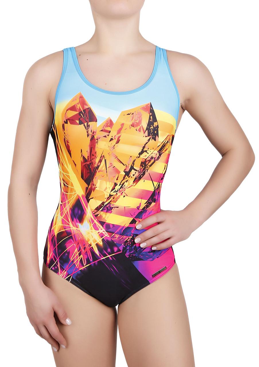 00dac5fb5f0a Купальник спортивный женский для плавания Rivage Line 8728,  бирюзово-черный: продажа, ...