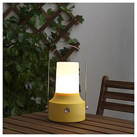IKEA SOLVINDEN (603.832.08) Светодиодный фонарь для солнечной энергии, желтый