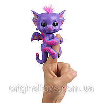 Интерактивный ручной блестящий дракон Fingerlings Кейлин Glitter Dragon WowWee