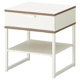 IKEA TRYSIL (302.360.25) тумбочка, білий, світло-сірий