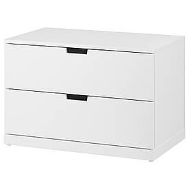 IKEA NORDLI (992.394.94) Комод, 2 ящики, Білий