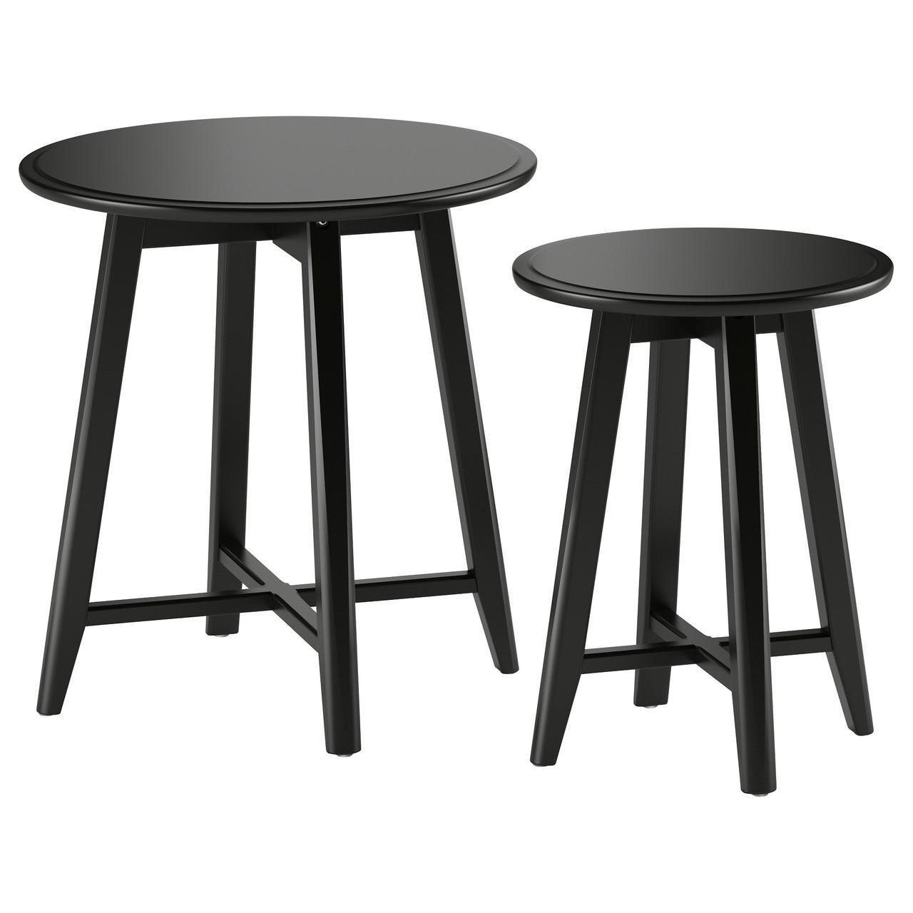 IKEA KRAGSTA (002.998.25) Столы, 2 шт., Черный