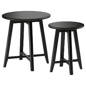 IKEA KRAGSTA (002.998.25) Столи, 2 шт., Чорний