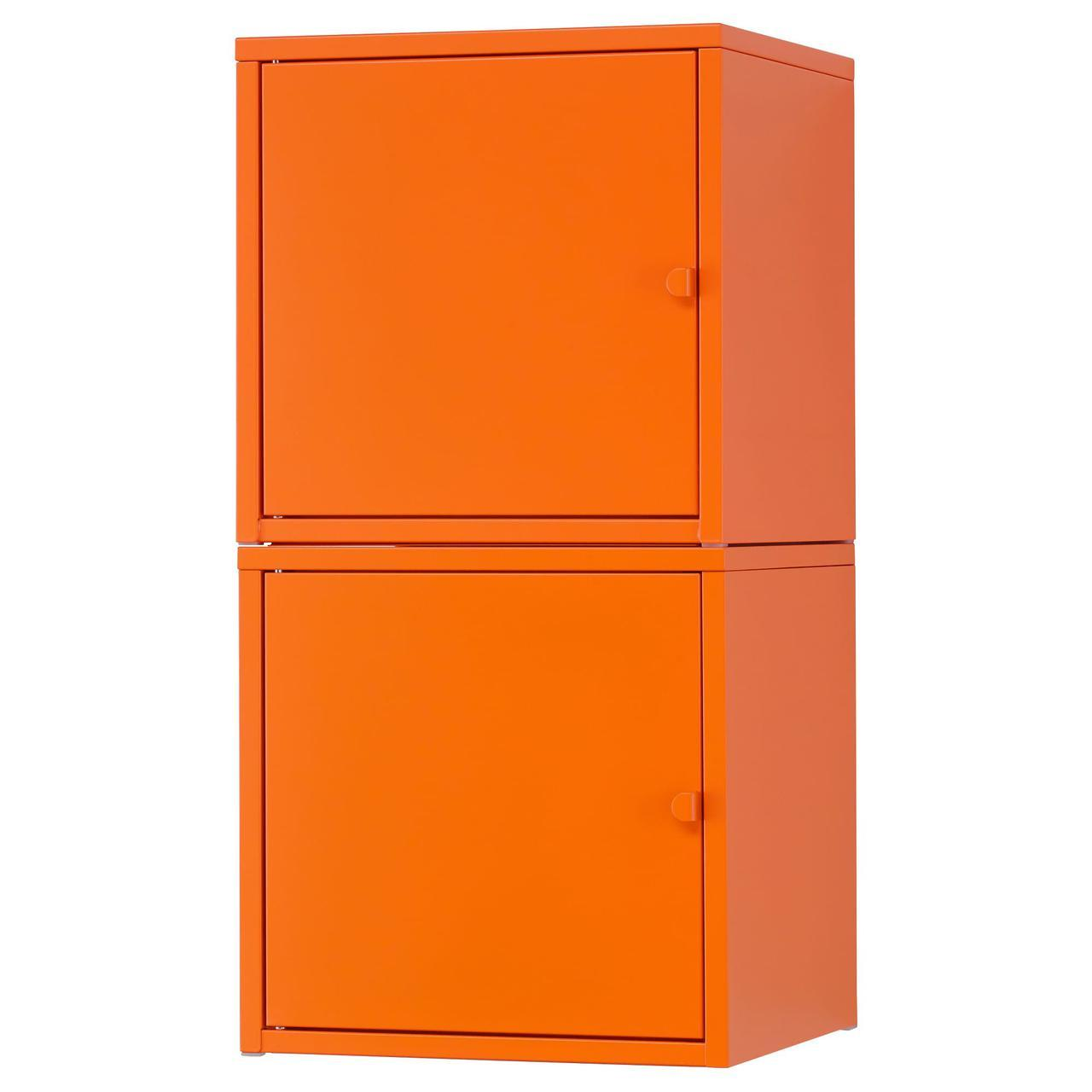 IKEA LIXHULT (291.615.92) Шкаф, , оранжевый