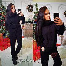 Женский вязаный комплект свитер с карманами и штаны 42-56р, фото 2