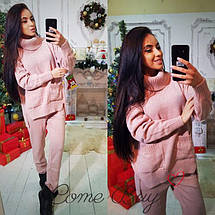 Женский вязаный комплект свитер с карманами и штаны 42-56р, фото 3