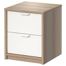 IKEA ASKVOLL (202.708.16) Комод, 2 висувних ящика, пофарбований білим, білий