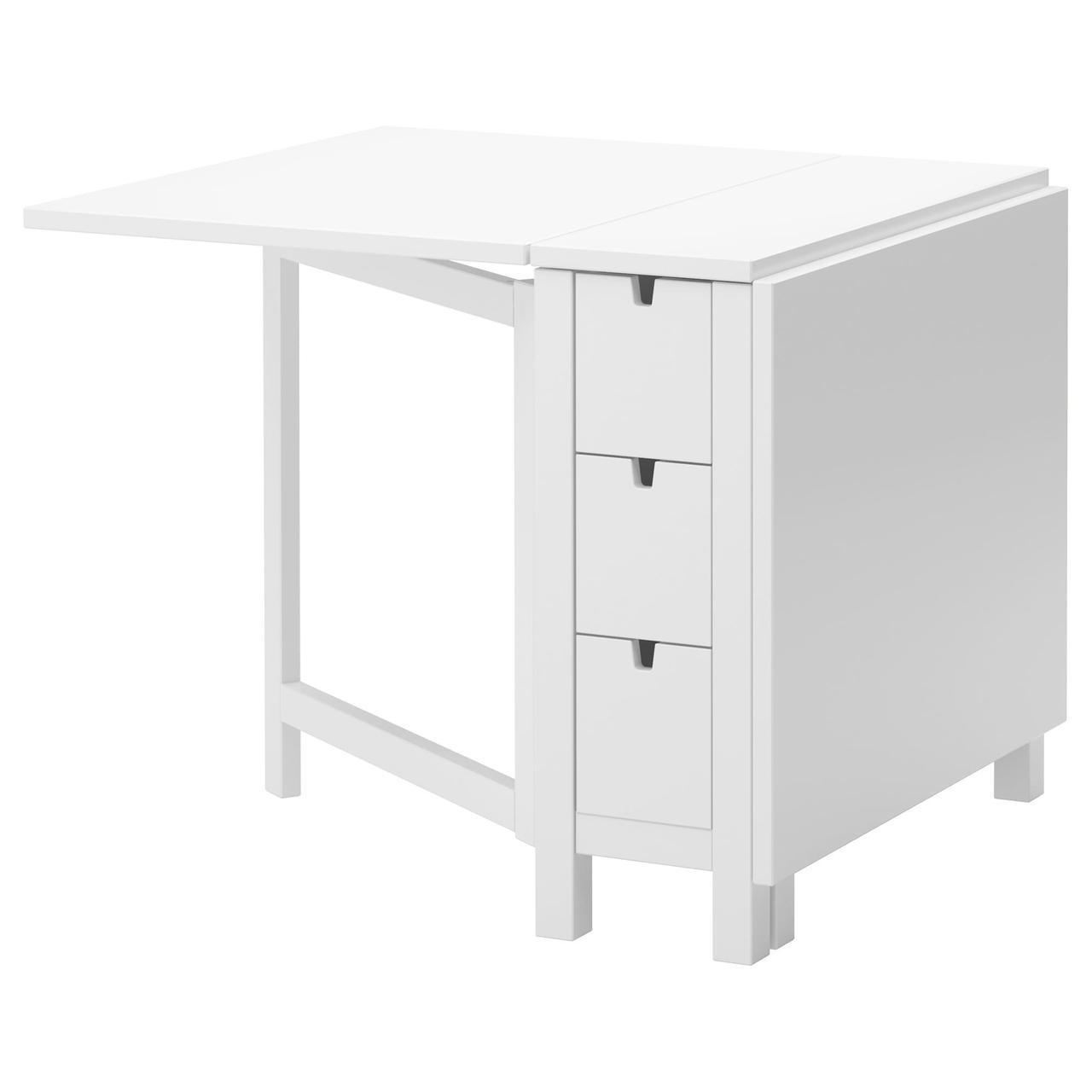 IKEA NORDEN (104.238.86) Стол/опущенная столешница, белый