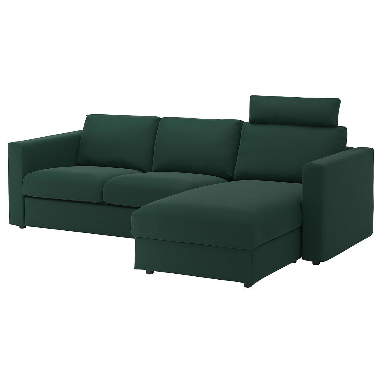 IKEA VIMLE (392.567.02) 3-местный диван, с шезлонгом