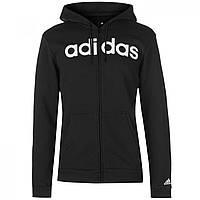 Худи adidas Linear Logo Full Black/White - Оригинал