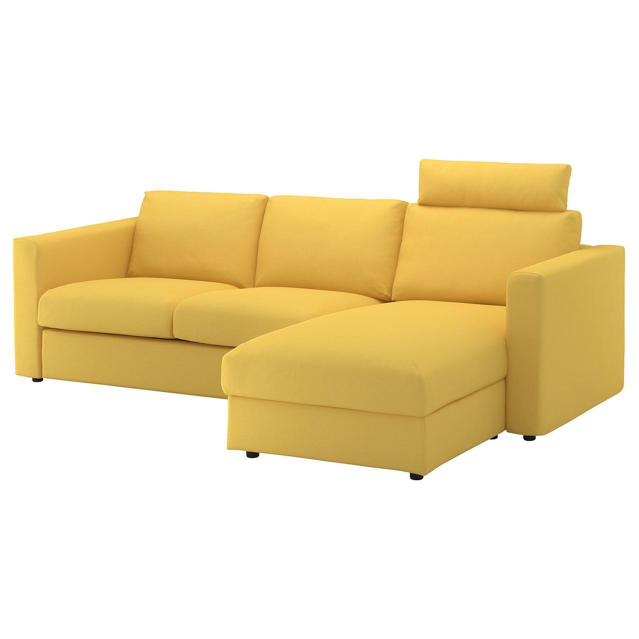 IKEA VIMLE (992.567.23) 3-местный диван, с шезлонгом