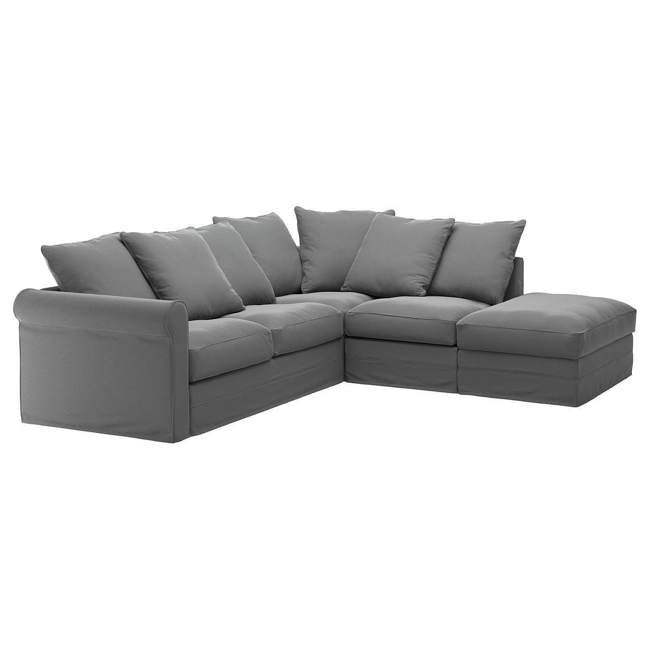 IKEA GRONLID (992.560.11) 4-местный угловой диван-кровать, с открытым концом
