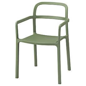 IKEA YPPERLIG (403.465.80) Стілець з внутрішніми/зовнішніми підлокітниками, зелений
