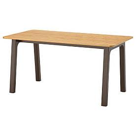IKEA OVRARYD (291.672.21) Стіл, бамбук білий, білий Backaryd bamboo