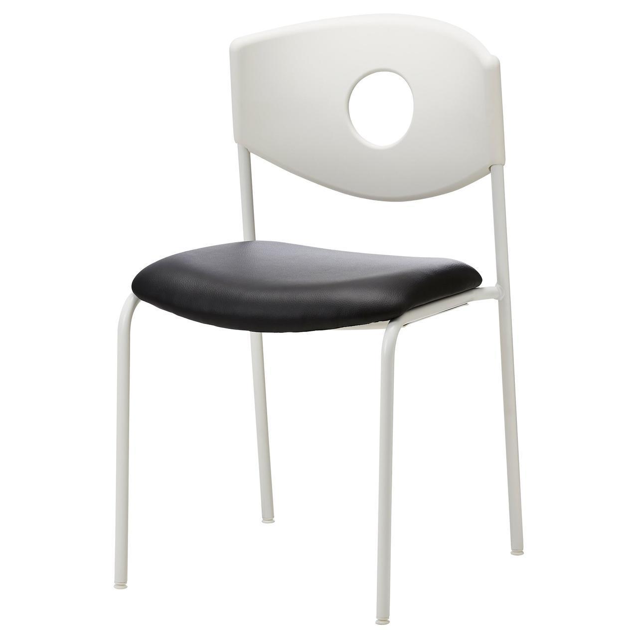IKEA STOLJAN (899.074.52) Стул для конференций, белый, черный