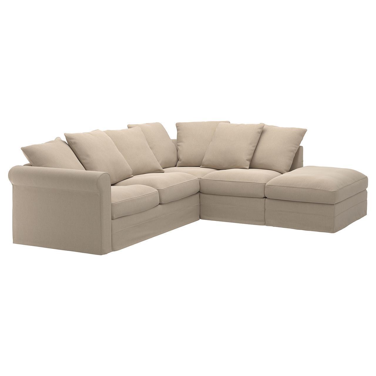 IKEA GRONLID (192.556.09) 4-местный угловой диван-кровать, с открытым концом