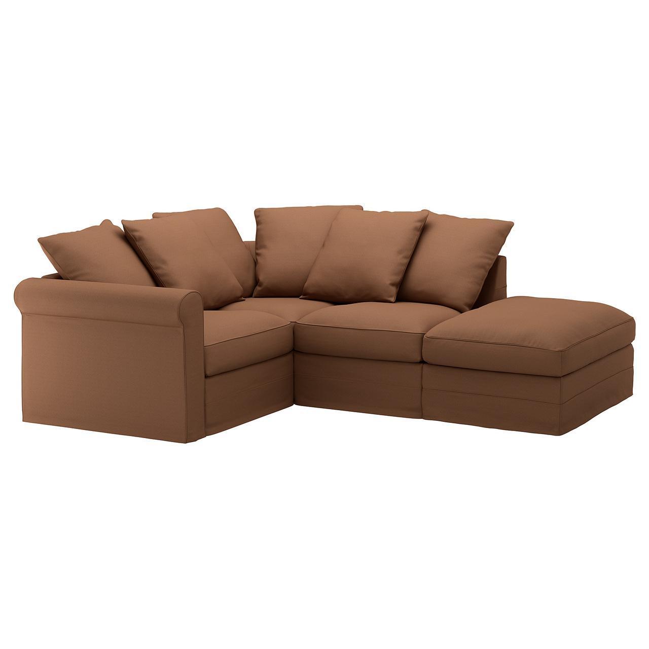 IKEA GRONLID (692.553.91) Угловой диван, 3-х местный, с открытым концом