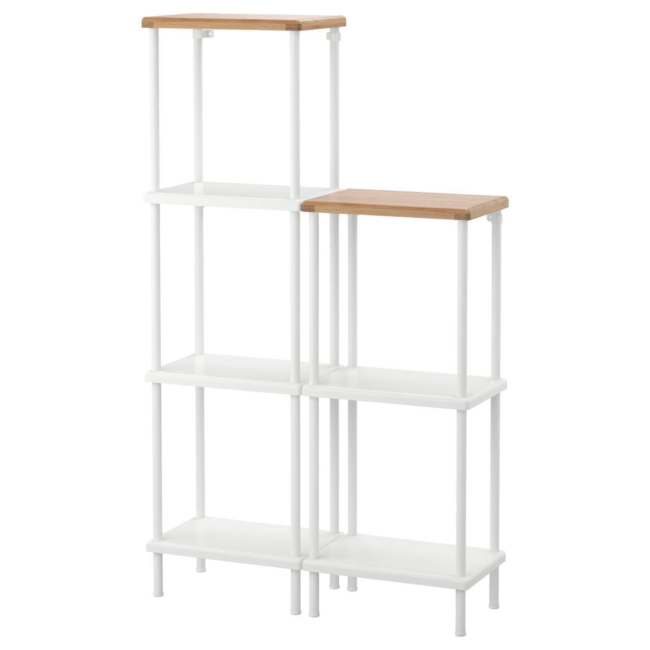 IKEA DYNAN (991.834.06) Шкаф, белый, бамбуковый узор
