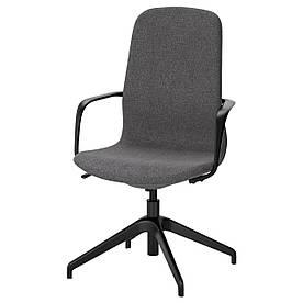 IKEA LANGFJALL (191.763.20) Комп'ютерне крісло, Гуннаред темно-сірий