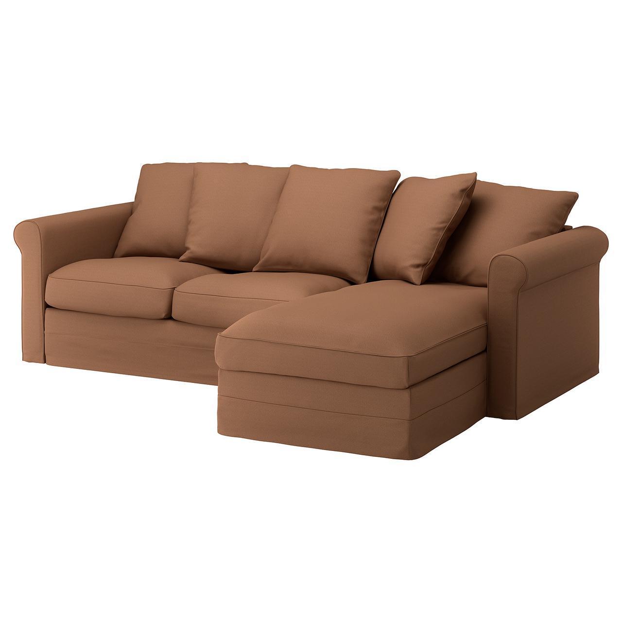 IKEA GRONLID (392.554.58) 3-местный диван, с шезлонгом, Ljungen светло-зеленый