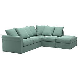 IKEA GRONLID (692.562.44) 4-местный угловой диван-кровать, с открытым концом, Ljungen светло-зеленый