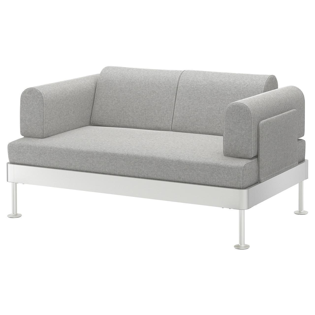 IKEA DELAKTIG (892.577.42) 2-местный диван, Tallmyra белый/черный