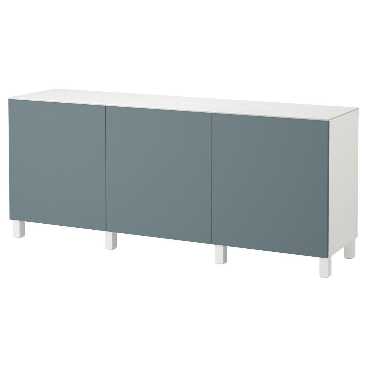 IKEA BESTA (192.097.83)Шкаф, белое, стекловолокно Glassvik
