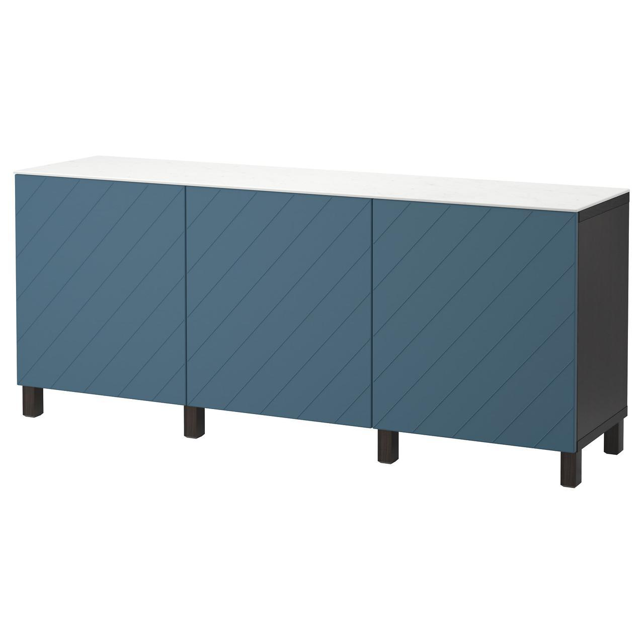 IKEA BESTA (992.096.75)Шкаф, белое, стекловолокно Glassvik