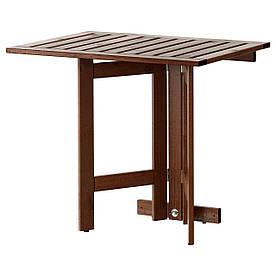 IKEA APPLARO (802.917.31) Стіл з кріпленням, стоп до стіни/саду, коричневе пляма