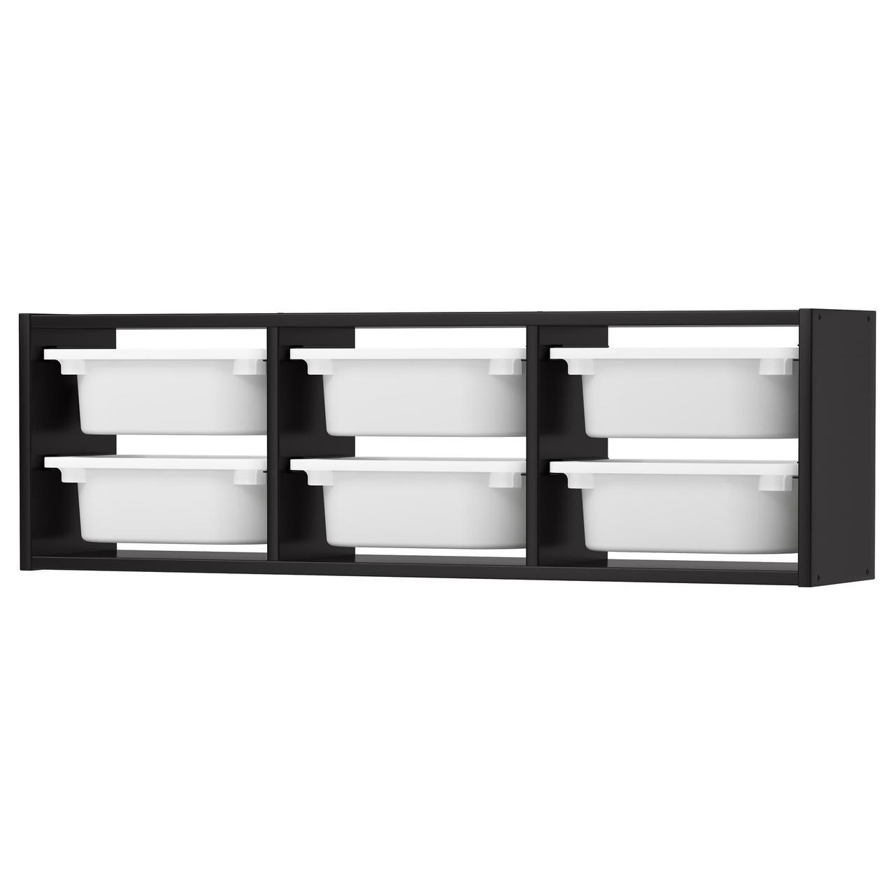 IKEA TROFAST (492.287.37) Настенный шкаф, черный, белый